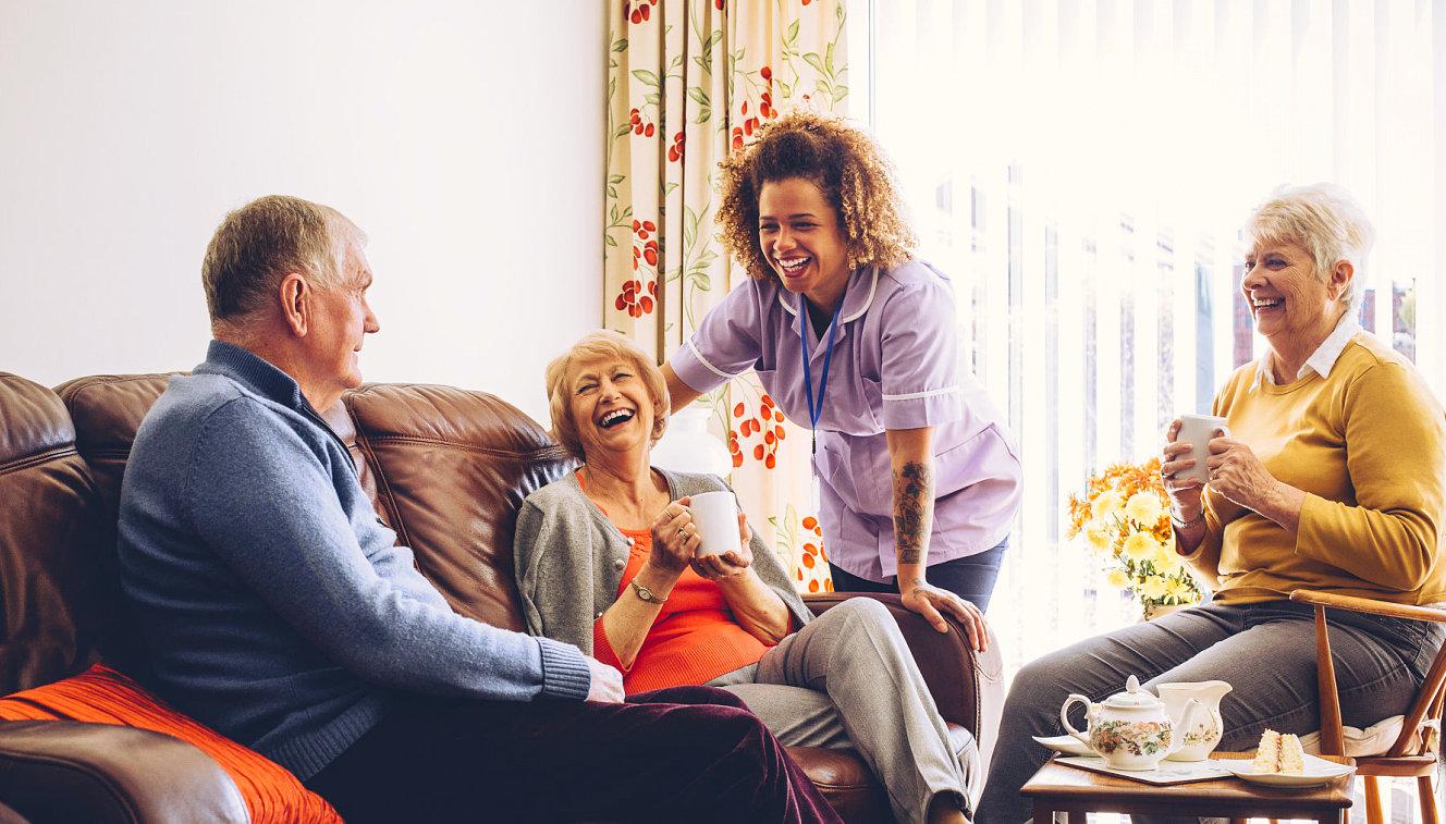 portrait of seniors smiling